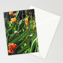 Exotic Garden With Glorious Majestic Flowers Stationery Cards