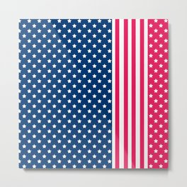 Abstract Patriotic pattern . Metal Print