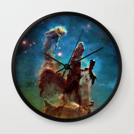 Eagle Nebula's Pillars Wall Clock