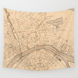 Vintage Map of Haverhill MA (1909) Wall Tapestry