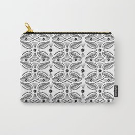 Poblanos Pattern Black White Carry-All Pouch