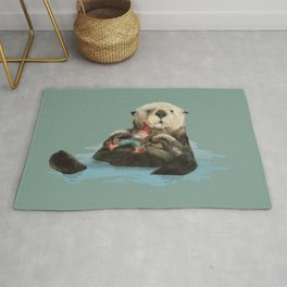 Gnome and Otter Rug