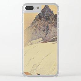 Yariga Mountain Hiroshi Yoshida Japanese Woodblock Print Clear iPhone Case