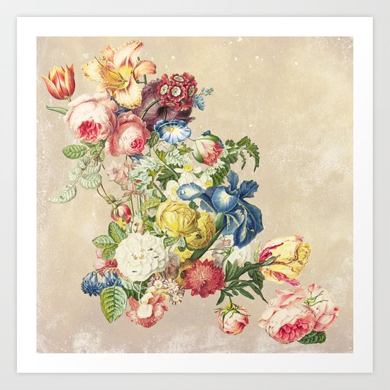 Floral tribute to Louis McNeice (Light) Art Print