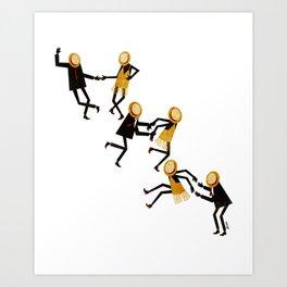 Lindy Hop Dancers Art Print