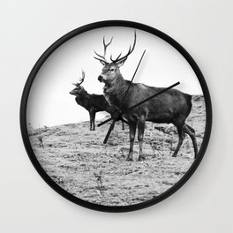 Stags on the hill Wall Clock