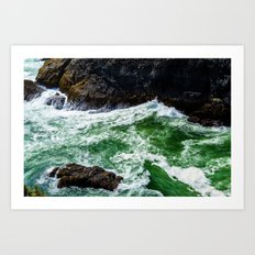 Emerald Sea Foam Art Print