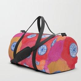 Hippy flowers watercolor Duffle Bag