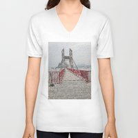 bridge V-neck T-shirts featuring Bridge by Mr and Mrs Quirynen