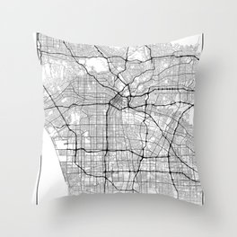 Minimal City Maps - Map Of Los Angeles, California, United States Throw Pillow