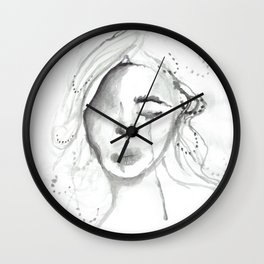 sad gurl Wall Clock