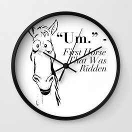 Funny Horse Shirt - Gift For Horse Lovers Wall Clock
