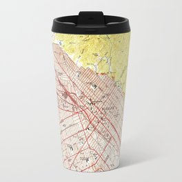Vintage Map of Burbank California (1953) Travel Mug