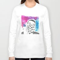 lv Long Sleeve T-shirts featuring  LV Scarf / Face  by Yung Sporty