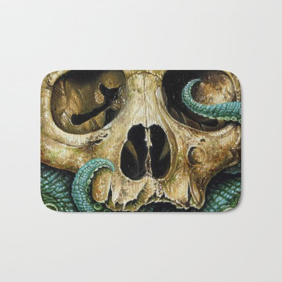 Tentacle skull Bath Mat