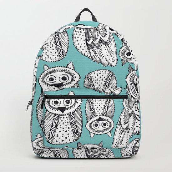 Hand dravn Cute Owl Backpack