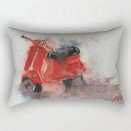 Red Scooter Rectangular Pillow