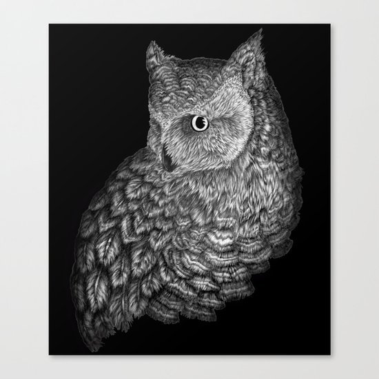 A Friend for Forsythe in Black Canvas Print
