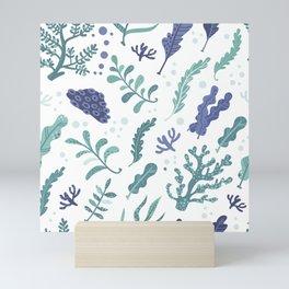 Seaweed pattern Mini Art Print