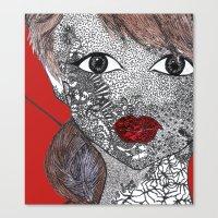 melissa smith Canvas Prints featuring Melissa by Mridula  Basak