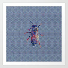 Worker Honey Bee 02 Art Print