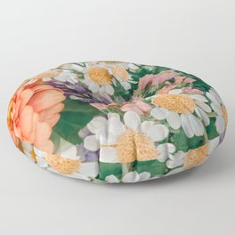 Light and Muse   Floral Bouquet no, 2 Floor Pillow