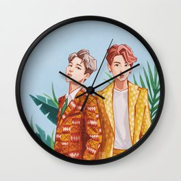 BTS Jungkook and Jimin Wall Clock