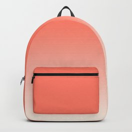 Coral Ombre, Dip Dye, Boho Backpack