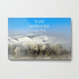 Be Still on the Yellowstone River Metal Print