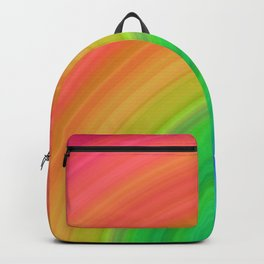 Bright Rainbow | Abstract gradient pattern Backpack