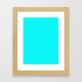 Aqua Cyan Light Pixel Dust Framed Art Print