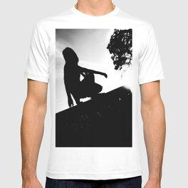 girl on a ledge T-shirt