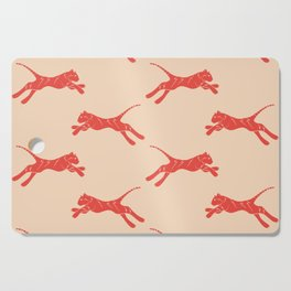 electric tiger in coral and peach Cutting Board