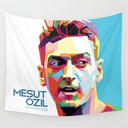 Mesut Ozil WPAP 2 Wall Tapestry