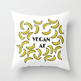 Vegan AF - bananas bananas Throw Pillow