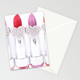 Pretty Pink Lipstick Stationery Cards