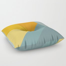 Abstract Mountain Sunrise Floor Pillow