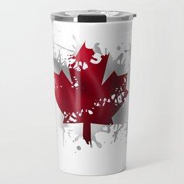 Canadian Splatter Travel Mug
