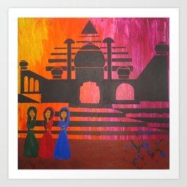 Indian Sunset Art Print
