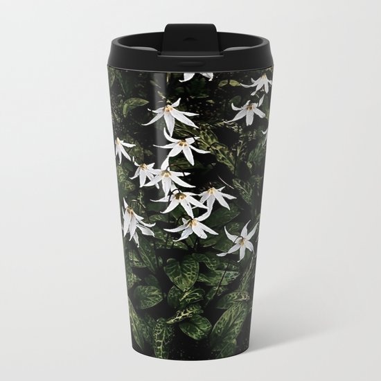 White Fawn Lilies; Open Your Heart Metal Travel Mug