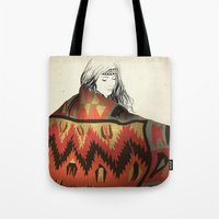 navajo Tote Bags featuring Navajo by Karen Hofstetter