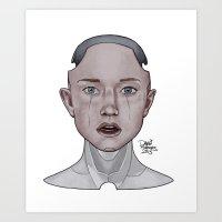 karu kara Art Prints featuring Kara by Dave Roberts Art