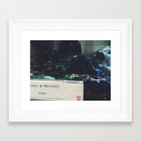 malachite Framed Art Prints featuring Malachite by Ashley Haywood