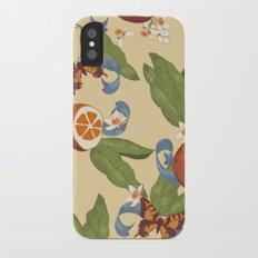 Botanical Oranges iPhone X Slim Case