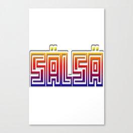 Salsa Engrave Com Bow Canvas Print