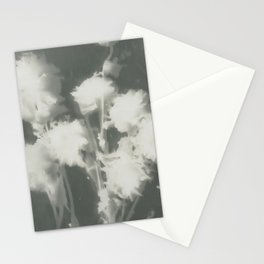 Gray Dahlias Stationery Cards