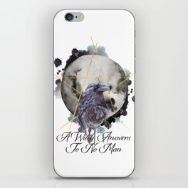 A Witch Answers To No Man iPhone Skin