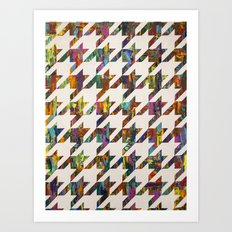 Which Came First, Galaga or Houndstooth? Art Print
