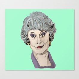 Dorothy Zbornak from The Golden Girls (Green) Canvas Print