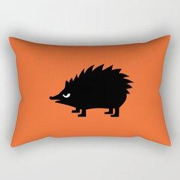 Angry Animals: hedgehog Rectangular Pillow